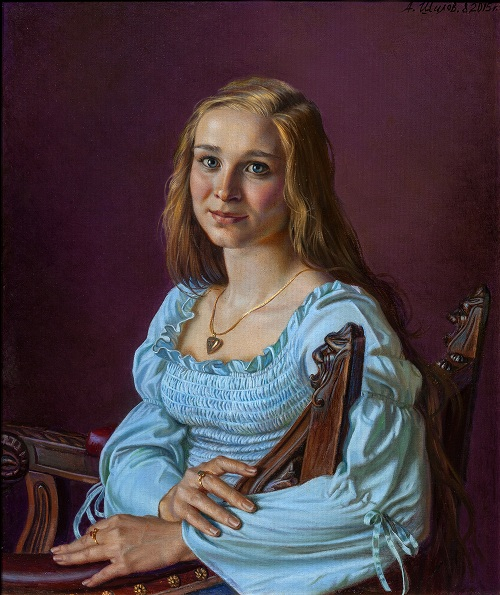 Портрет дочери Анастасии. Автор: Александр Шилов. | Фото: livejournal.com