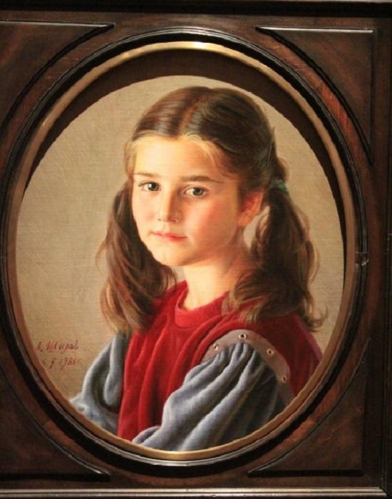 Портрет дочери. (1986) Автор: Александр Шилов.