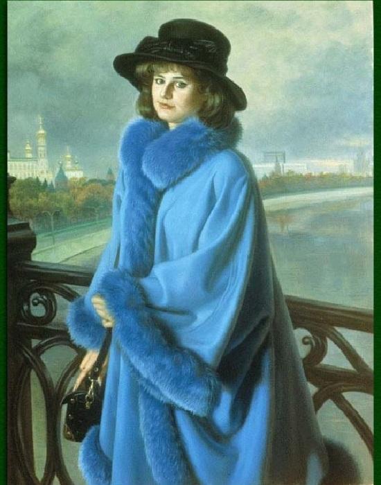 Юная москвичка Маша Шилова. (1995) Автор: Александр Шилов.
