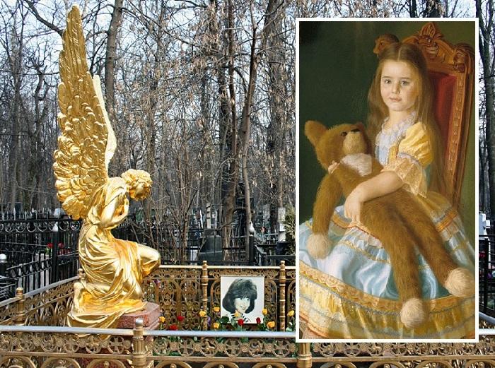 Надгробный памятник на Ваганьковском Маше Шиловой.