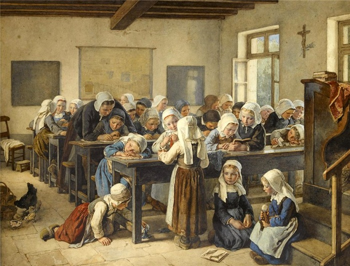 «Бретонская школа». Автор: Жан-Батист Жюль Трайер.