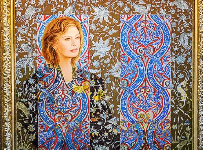 Портрет Софи Лорен от Никаса Сафронова. | Фото: oknovmoskvu.ru