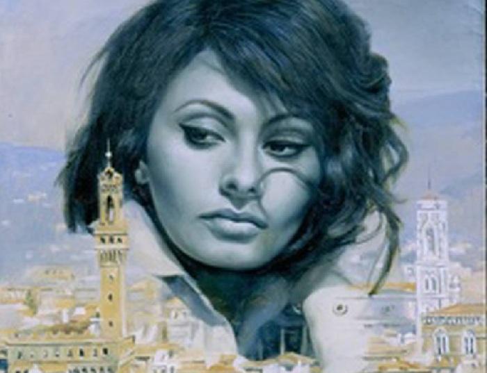 Портрет Софи Лорен от Никаса Сафронова. | Фото: hornews.com