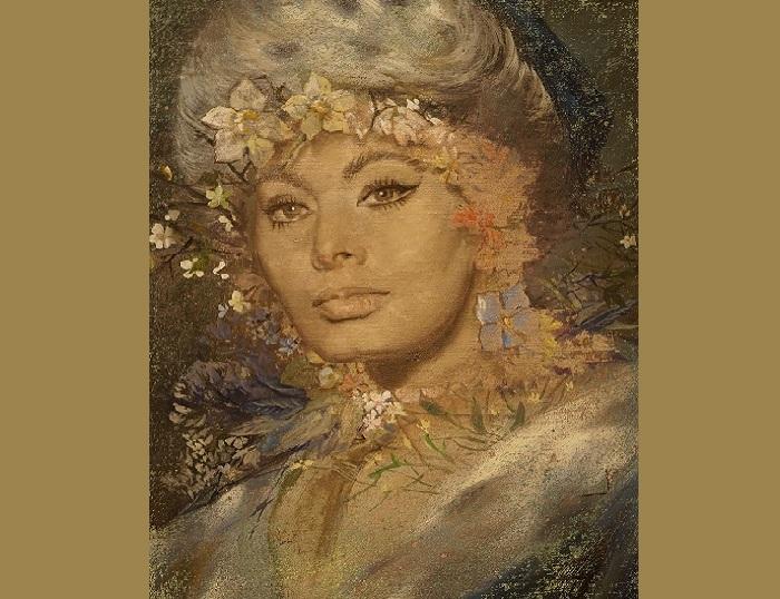 Портрет Софи Лорен от Никаса Сафронова.  | Фото: u 24.ru