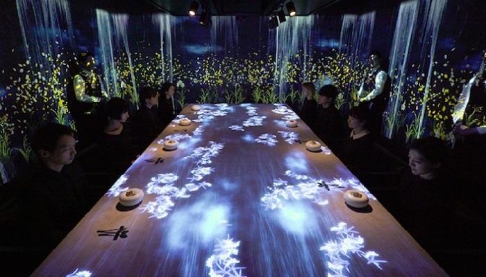 Виртуальный сказочный мир от ресторана Sagaya. ¦ Фото: mymodernmet.com.