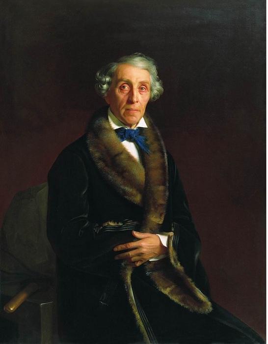 Портрет Л.П. Толстого. (1850). Автор: С.К.Зарянко.