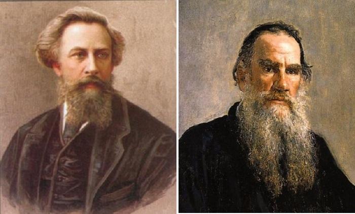 А.К. Толстой. (1817-1875). /  Л.Н. Толстой. (1828- 1910).