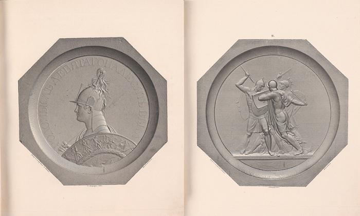 Медальоны в память военных событий 1812, 1813, 1814 и 1815 годов. Издано в 1838 году.