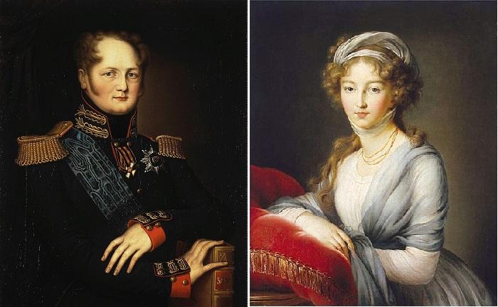 Император Александр I. / Елизавета Алексеевна - супруга Александра I.