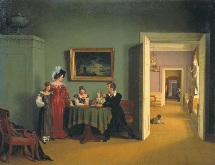 Семейный портрет. (1830). Автор: Толстой Ф.П.