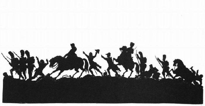 Наполеон на поле боя. Силуэт. Автор: Ф.П.Толстой.