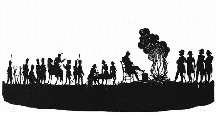 Наполеон у костра. Силуэт. Автор: Толстой Ф.П.