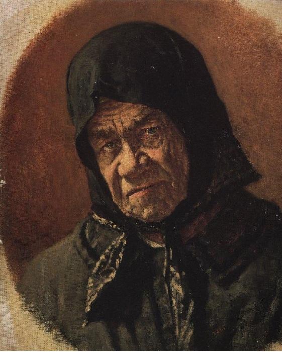 Старуха-нищенка девяноста шести лет. Автор: Василий Верещагин.