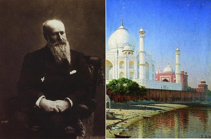 Василий Верещагин - русский художник баталист./ Мавзолей Тадж-Махал. Индия. (1876).