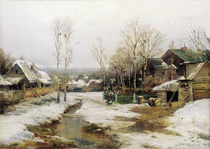 «Весной в окрестностях Петербурга». Автор: Вельц И.А.