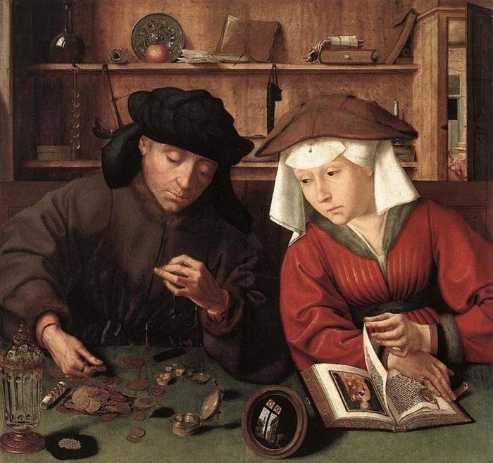 «Кредитор с женой». (1514). Королевский музей изобразительных искусств Бельгии. Автор: Квентин Массейс.| Фото: artchive.ru.