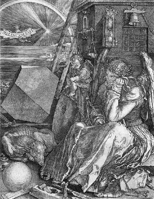 «Меланхолия». (1514). Гравюра. Автор: Альбрехт Дюрер. | Фото: artchive.ru.