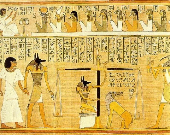 Взвешивание перышка Правды богини Маат и сердца усопшего. Фото: livejournal.com