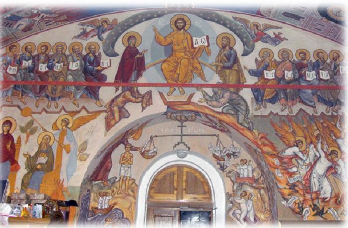 Сцена Страшного суда на фресках храма. | Фото: artchive.ru.