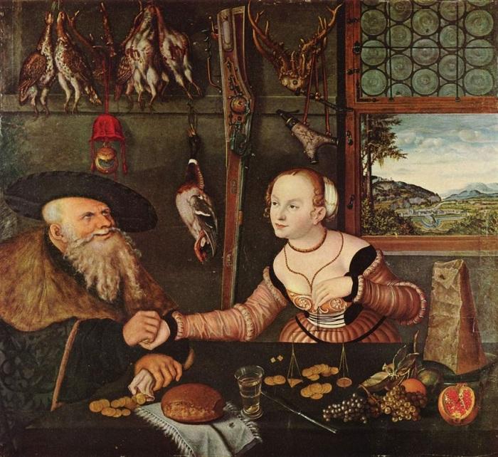 «Расплата» (Мезальянс). (1532). Автор: Лукас Кранах. | Фото: artchive.ru.