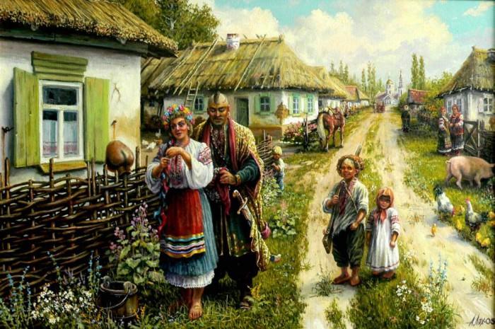 «Из жизни казачьей станицы». Автор: Андрей Лях.