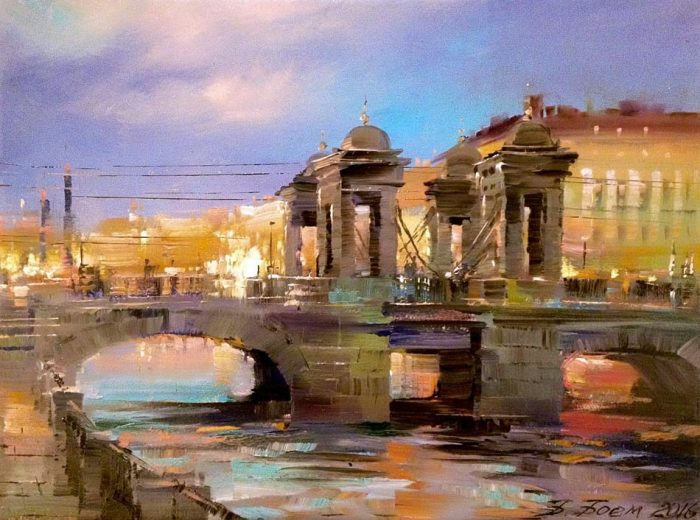 Ломоносовский мост. Автор: Бэгги Боем.