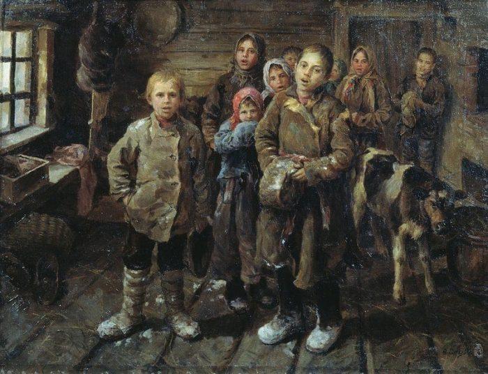 «Христославы». (Дети старой деревни). Автор: Федот Сычков.
