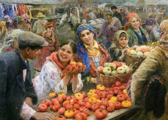 «Колхозный базар». Автор: Федот Сычков.