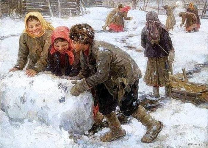 «Снежный ком». (1910). Автор: Федот Сычков.