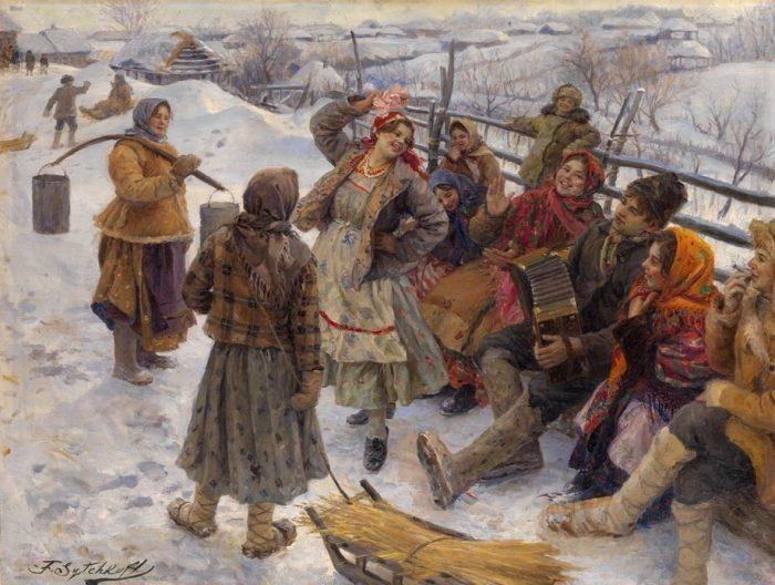 «Праздничный день».(1927). Автор: Федот Сычков.