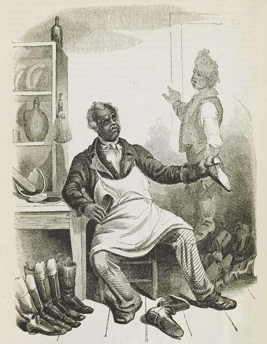 Раб - сапожник (штат Вирджиния, 1850 год)