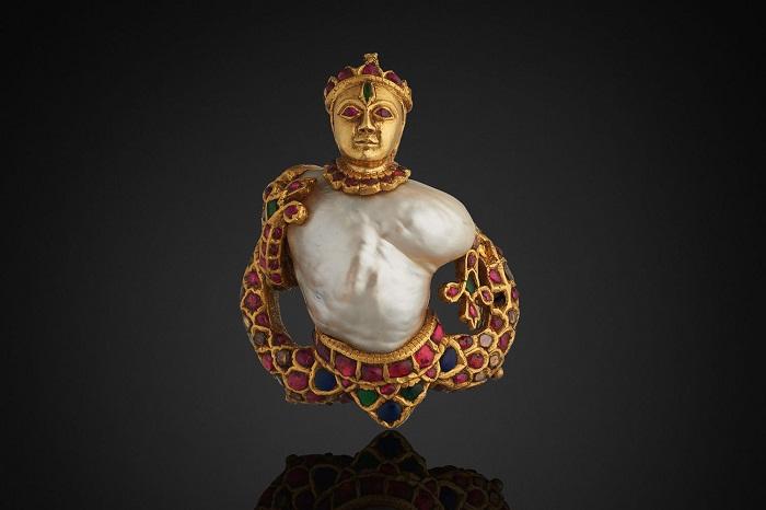 Брошь с барочным жемчугом, Индия, 1575-1625