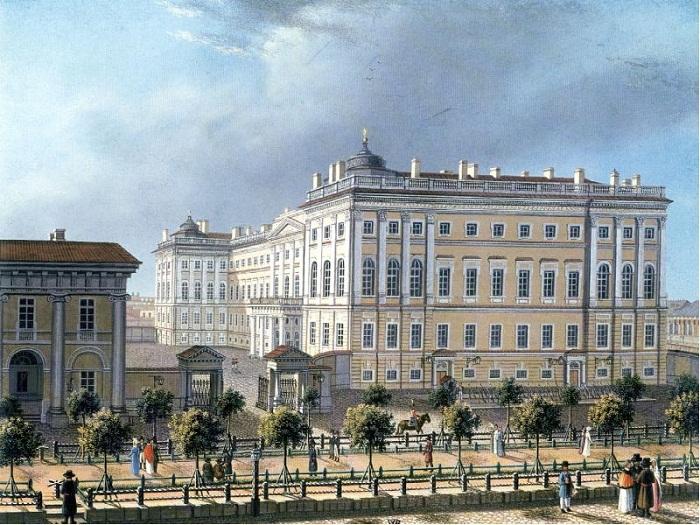 Аничков дворец, 1810 г.