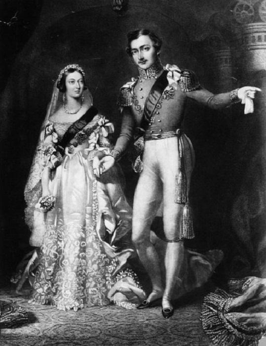 Виктория и Альберт возвращаются с церемонии бракосочетания