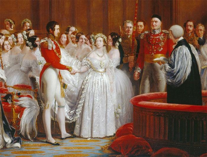 10 февраля 1840 года. Церемония бракосочетания королевы Виктории и принца Альберта во Дворце Сент - Джеймс