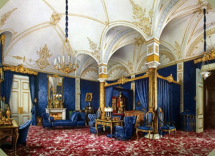 Л. Премацци. Спальня императрицы Марии Александровны