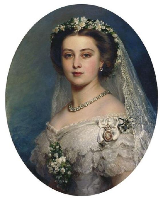 Портрет принцессы Виктории кисти придворного живописца Винтерхалтера