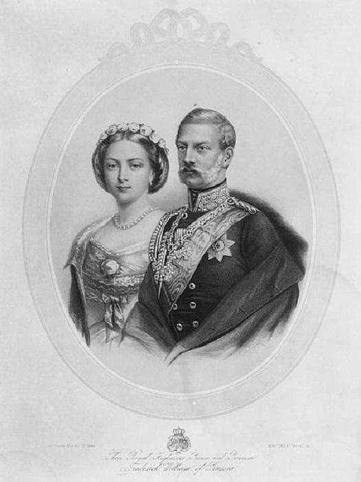 Фридрих III и принцесса Виктория-Аделаида