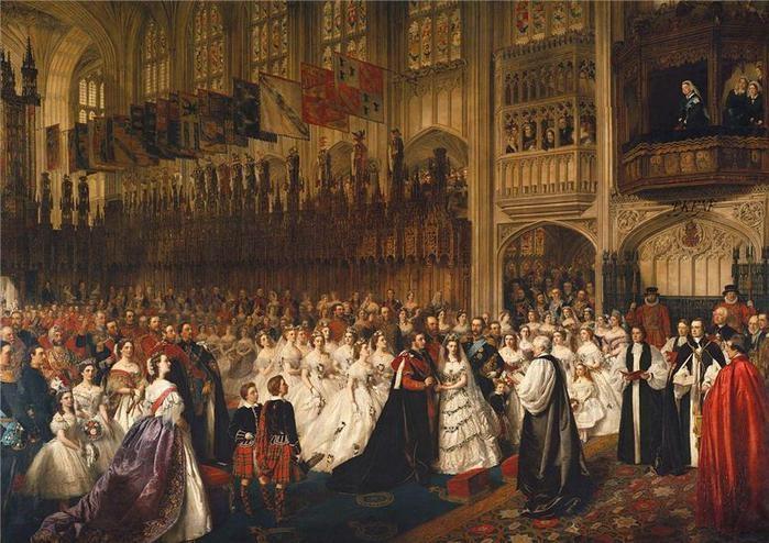Свадьба принцессы Александры и принца Эдуарда