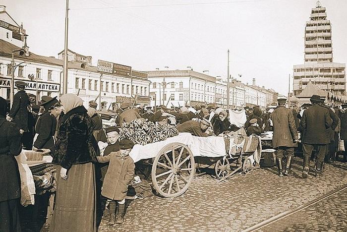 Сухаревская площадь Фото 1913—1914