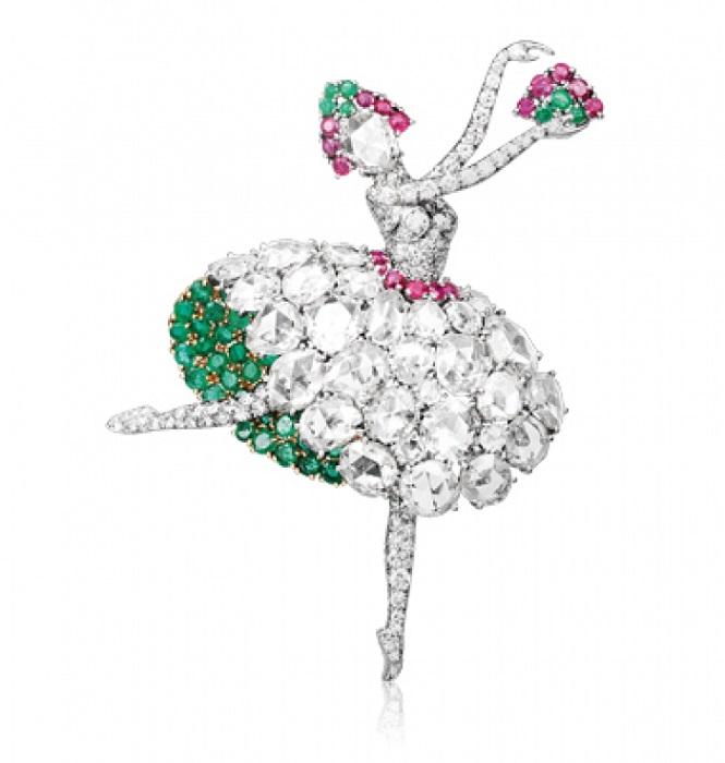 Испанская танцовщица. 1941 г. Эта брошь была первой из фирменной труппы. Коллекция Cleef & Arpels.