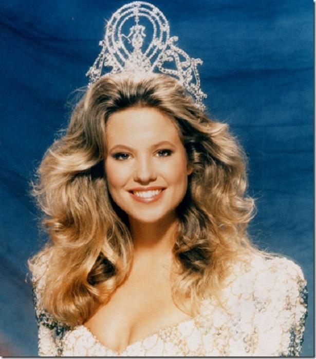 Ангела Виссер (Нидерланды) - Мисс Вселенная 1989. Рост 175 см. Параметры фигуры 90-62-96.
