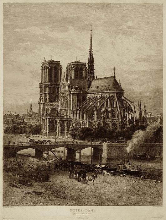 Нотр-Дам де Пари в конце 19 века