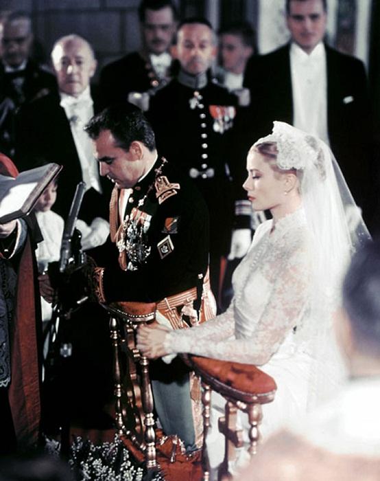 19 апреля 1956 года. <br>Свадебная церемония князя Монако Ренье III и актрисы Грейс Келли