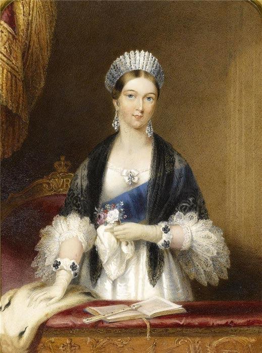 Королева Виктория в тиаре-франж