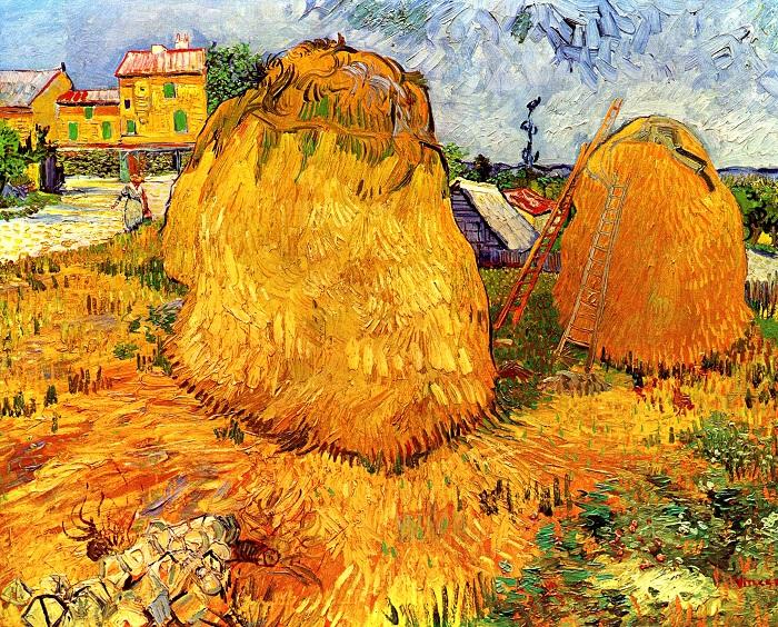 Стога сена в Провансе  Июнь 1888 года . Холст, масло . Оттерло, Музей Кроллер-Мюллер