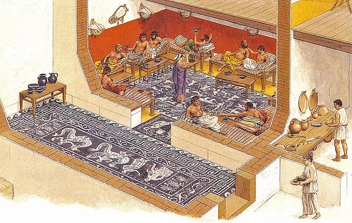 Симпосий на мужской половине греческого дома