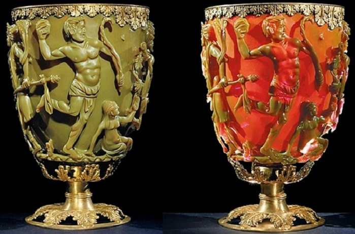 Загадка древнеримского кубка Ликурга: Нанотехнологии в античном мире?