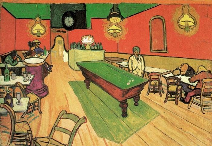 Ночное кафе на площади Ламартин в Арле  Сентябрь 1888 года . Холст, масло. Нью-Хейвен (штат Коннектикут, США), Художественная галерея Йельского Университета