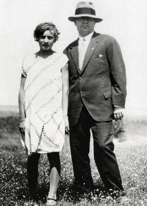 Эдда Муссолини с отцом